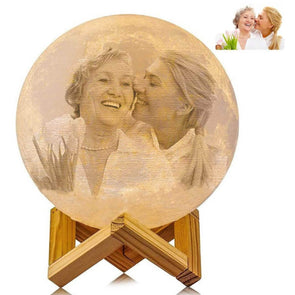 Custom Photo Moon Lamp Custom 3D Photo Engraved Moon Light 2 Colors