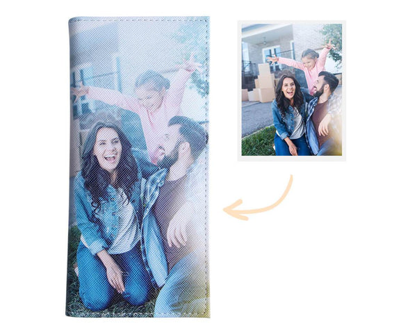 Mothers Day Gift Womens Personalized Photo Wallet Two side 3D Print Long Wallet
