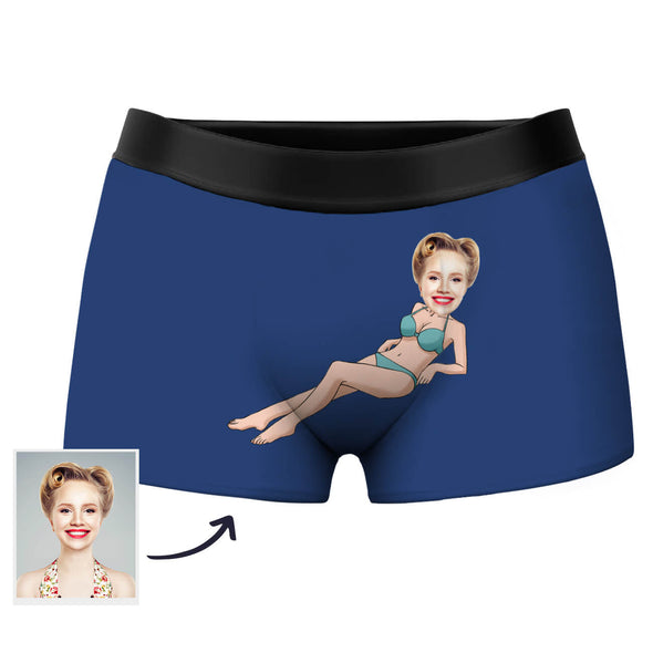 Custom Face Boxer Men's Shorts with Picture