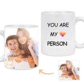 Custom Mug with Pictures on the Back Customized Lover Photo Mug