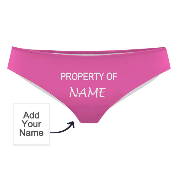 Custom Panties with Lover Name