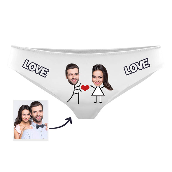 Personalized Face Photo Panties Best Gift for Lover