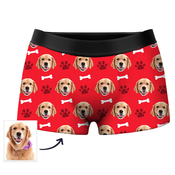 Custom Dog Face Photo Boxer Shorts