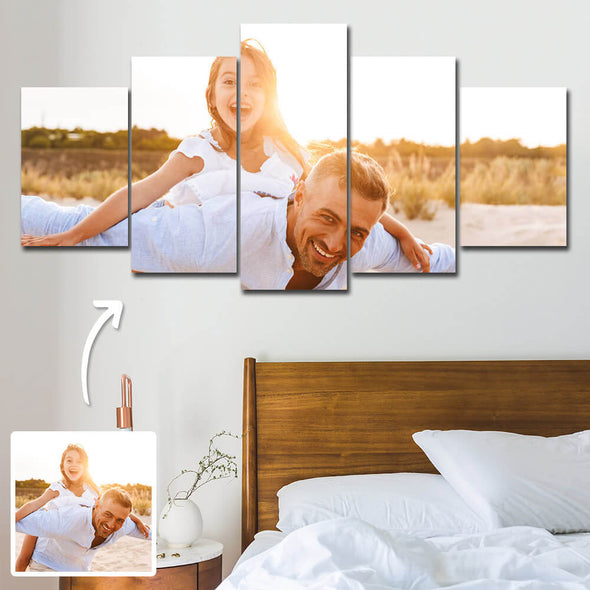 Christmas Gift Custom Photo Painting Canvas Wall Decor Contemporary Oil Painting 5 Pcs