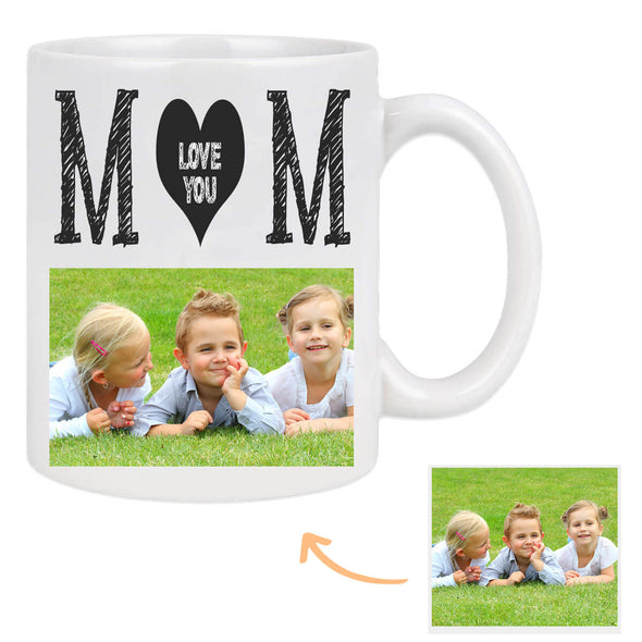 Custom Coffee Mug with Pictures for Mom Personalized Photo Mug