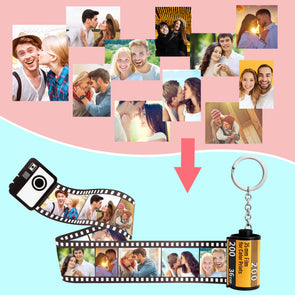 Valentine's Gift Custom Camera Roll Pictures Keychain