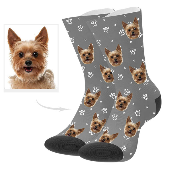 Custom Dog Photo Socks