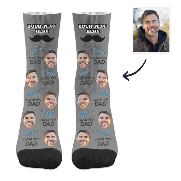 Custom Dad Socks with Text