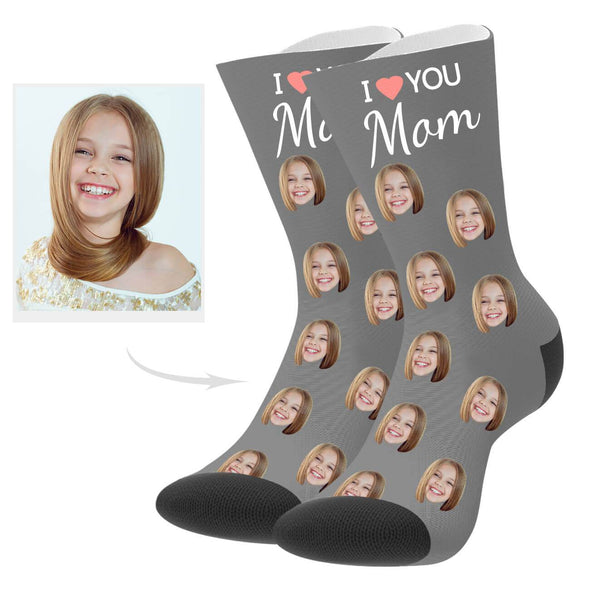 Custom Love Mom Socks