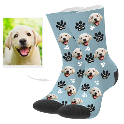Custom Puppy Photo Socks