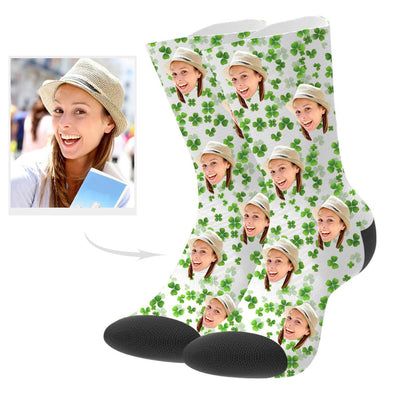 Custom Flower Photo Socks