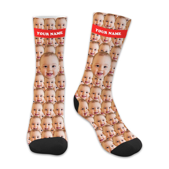 Custom Face Socks with Your Name