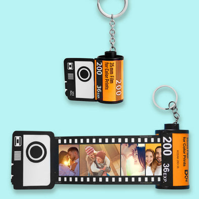 Custom Camera Roll Photos Keychain Gift for Lover