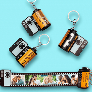 Custom Camera Roll Pictures Keychain Valentine's Day Gift