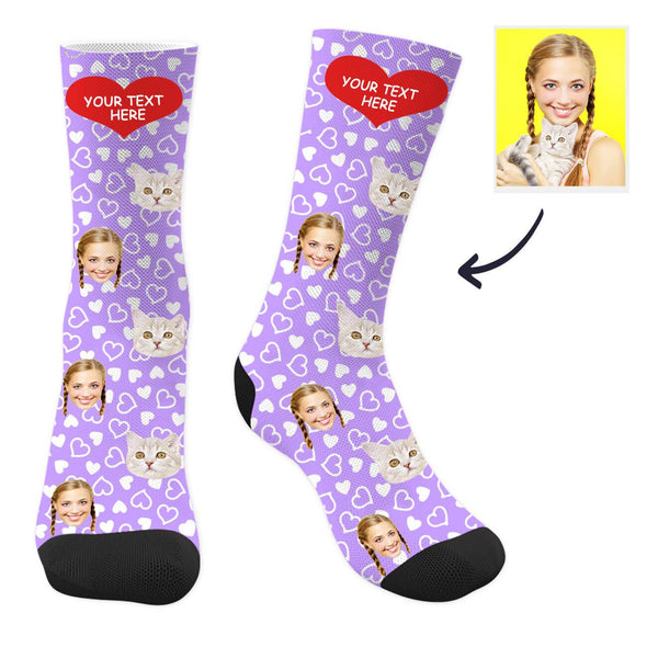 Custom Cat Socks with Text