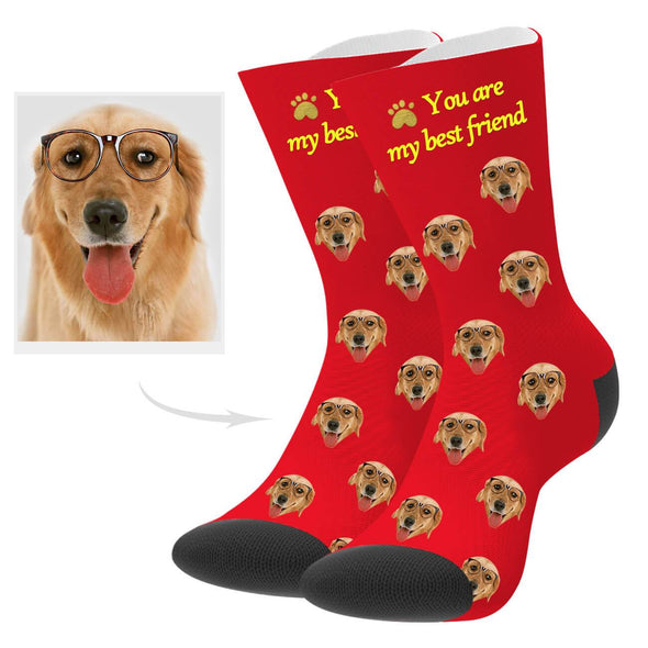 Custom Best Friend Dog Photo Socks