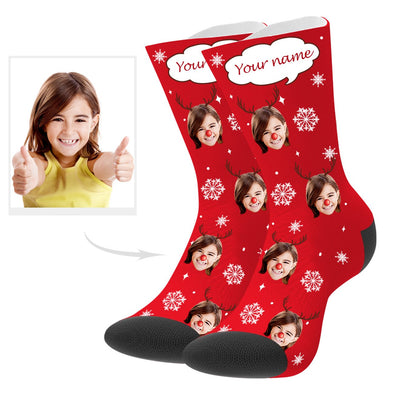 Custom Christmas Socks with Text