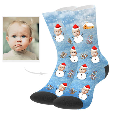 Custom Christmas Snowman Socks