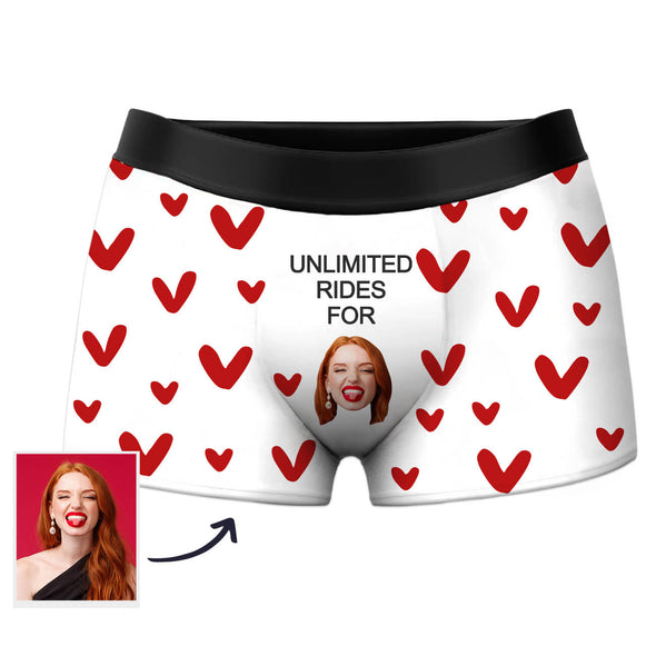 Custom Underwear Photo Boxers with Face Funny Shorts