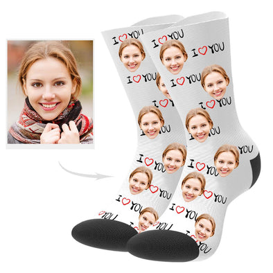 Custom Lover Face Socks