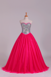 2019 Quinceanera Dresses Sweetheart Ball Gown Floor-Length Beaded Bodice