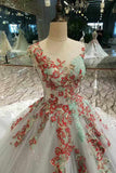 2020 Tulle Wedding Dresses A Line With Beads Rhinestones Scoop Neck