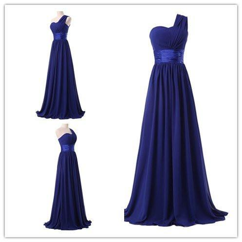 Chiffon One Shoulder Bridesmaids Dresses WK540