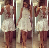 See through Lace Short A-Line Cute Sexy Cheap Dresses for Homecoming Graduation Dress WK440