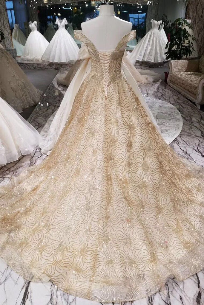 2019 Bling Bling A Line Prom Dresses Lace Up Off The Shoulder Bling Bling Lace