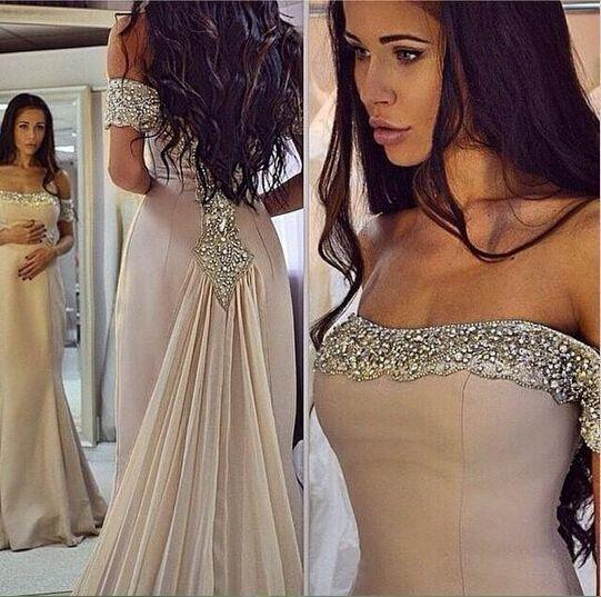 Charming Long Evening Dress Off Shouder Mermaid Prom Dress Formal Evening Dresses Women Dress WK391