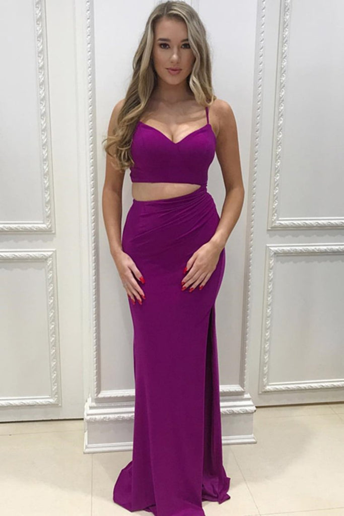 Simple Cheap Formal Spaghetti Straps Prom Dresses Evening Dresses