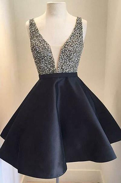 Cute Homecoming Dress V-Neck Homecoming Dress Short Prom Dresses WK533