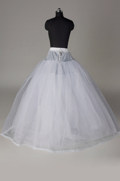 Women Tulle Netting/Polyester Floor Length 3 Tiers Petticoats P014