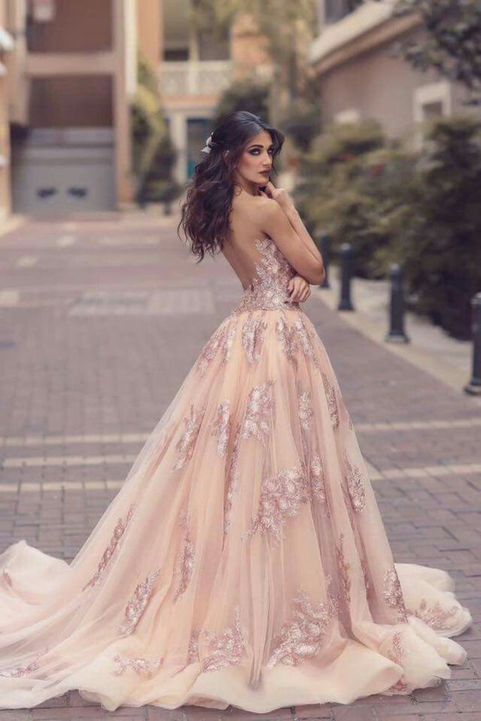 2019 Unique Prom Dresses Mermaid Scoop Tulle With Applique Court Train One Piece