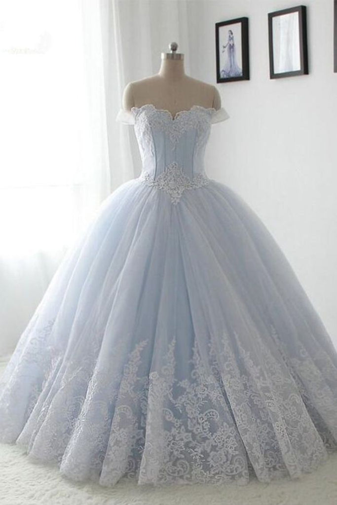2019 Quinceanera Dresses Ball Gown Off The Shoulder Tulle With Applique