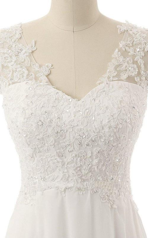 A Line Sweetheart V Neck Beads Appliques Flower Embroidery Backless Sequins Prom Dresses WK275