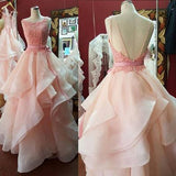 Ball Gown Backless Long Cheap Evening Dress Prom Gowns Custom Formal Women Dress WK129