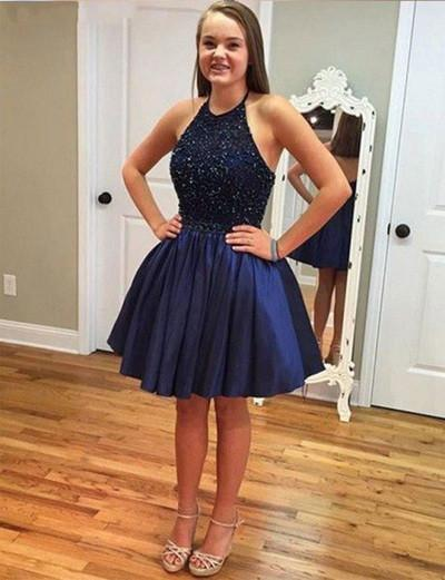 Cute Royal Blue Homecoming Dress Short Prom Dresses WK332