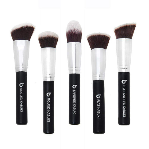 5 Piece Kabuki Makeup Brush Set NO TUBE