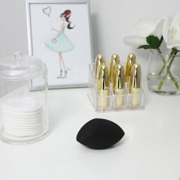 Black Contouring Makeup Sponge Set - 2pc