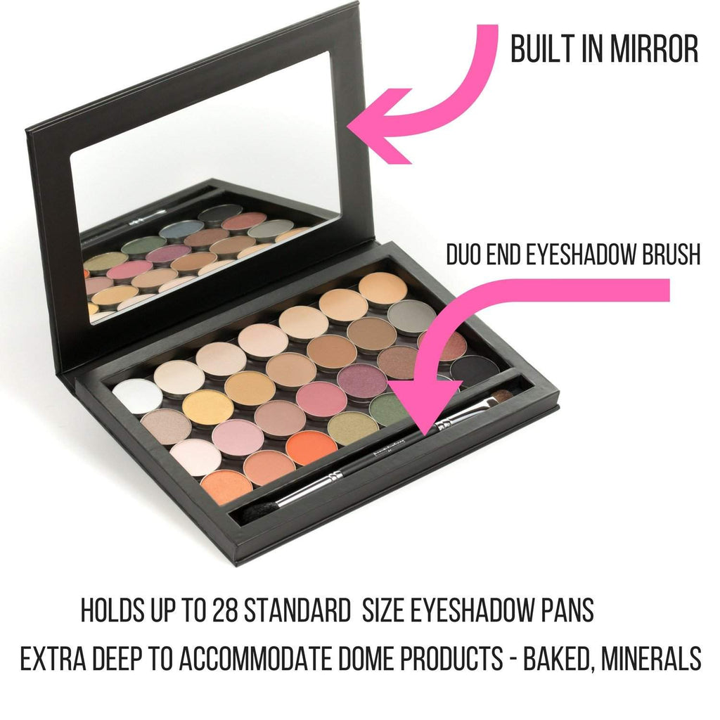 28 Single Eye Shadow Pans with a Magnetic Makeup Palette - Beauty ...