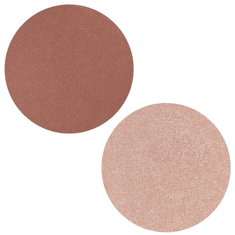 Russet Rose Collection Powder Blush Highlighter Duo Magnetic Refill Pans