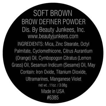 Soft Brown Brow Definer Powder 3pc Kit