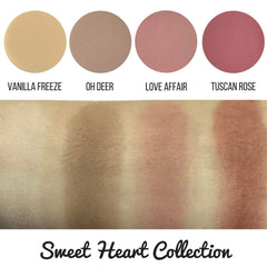Sweet Heart Collection Eyeshadow Quad Kit Magnetic Refill Pans