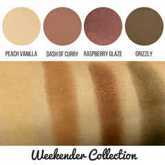 Weekender Collection Eyeshadow Quad Kit Magnetic Refill Pans