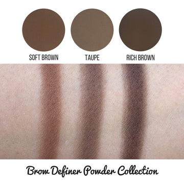 Rich Brown Brow Definer Powder Pan
