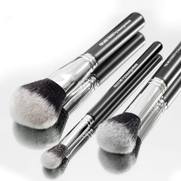 Pro Powder Makeup Brush Set with Case