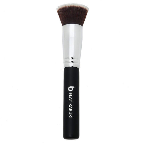 Premium Foundation Makeup Brush Flat Top Kabuki for Blending Liquid, Cream, Mineral Cosmetics, Translucent Powder