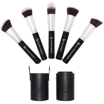 Kabuki Makeup Brush Set with Holder