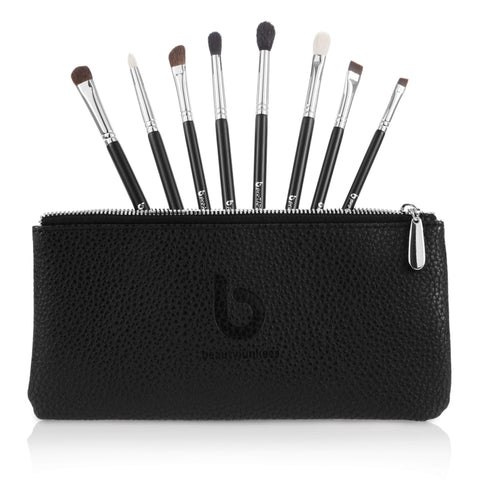 8 Piece pro Series Eye Brush Set with Makeup Brush Case